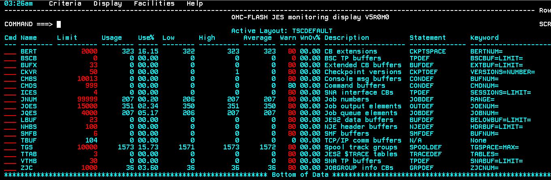 OMC-FLASH™ 5.0.0 - JES Monitoring Display