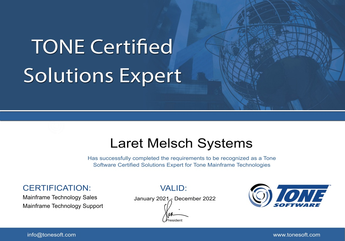 TONE Certified Solutions Partner